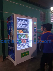 Large Capacity Cold Drinks&Snacks Combo Vending Machine with 8′′lcd Screen pictures & photos