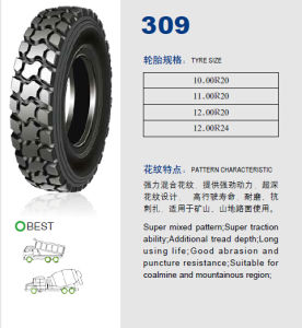 Annaite Brand New Radial Truck Tyre (309 11.00R20 12.00R20 12.00R24) pictures & photos