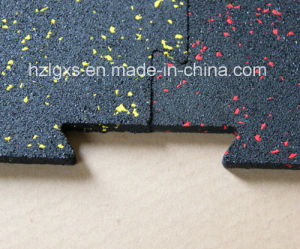 EPDM Granule Dots Interlocking Rubber Floor Mat/Rubber Carpet pictures & photos