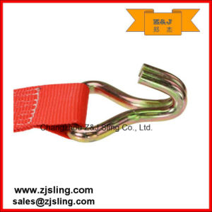 "4"" W/ Wire Hooks Ratchet Strap 4"" X 30′ Red pictures & photos"