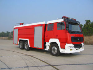 6000L Equipped with Water, Foam, Powder Multi-Function HOWO Fire Truck pictures & photos