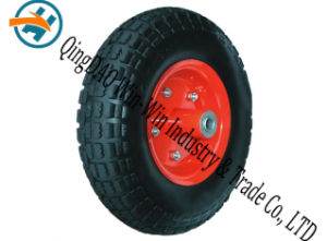 Wear-Resistant Pneumatic Rubber Wheel with Wheel Part (13*4.00-6) pictures & photos