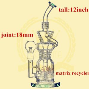 Much Tube Recylcer Smoking Recycler Smoking Glass Water Pipe pictures & photos