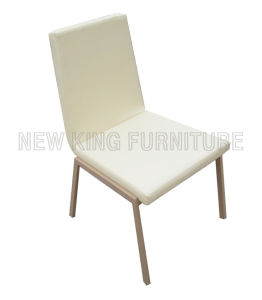 Modern Cheap Banquet Paint Steel Foot PU Leather Dining Chair (NK-DC097)