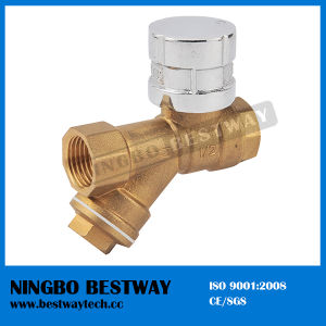 Brass Magnetic Lockable Ball Valve with Strainer pictures & photos