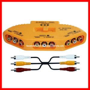 3 Ways AV Switch / Audio & Video Selector/Game Selector AV Selector /Audio Video Input Selector pictures & photos