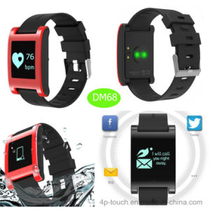 Hot Selling Big Touch Screen Waterproof IP67 Smart Bracelet pictures & photos