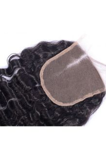 100% Virgin Hair Lace Frontal 4X4 Deep Wave Lace Closure, Right Part Ear to Ear Full Lace Frontal Bleached Knots with Baby Hair pictures & photos