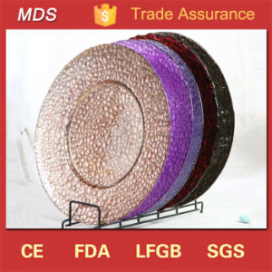 Wholesale Embossed Round Glass Dinner Plates Manufacture pictures & photos