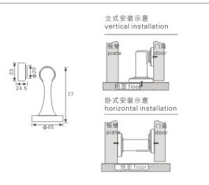 Stainless Steel Durable Magnetic Door Holder (KTG-953) pictures & photos