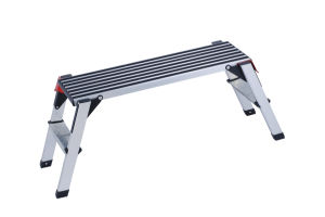 Top Selling Black Aluminium Work Platform Ladder with En131 pictures & photos