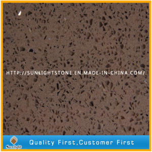 Cheap Brown Engineered Artificial Stone Quartzite Tiles for Floor/Wall pictures & photos