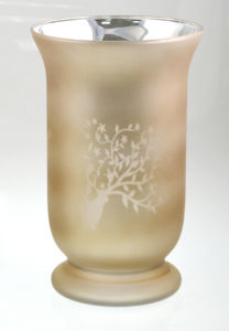 Champagne Glass Candle Hurricane with Pattern Carving pictures & photos