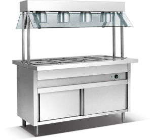 3-Pan Bain Marie with Warming Lamp (HBA-3L) pictures & photos