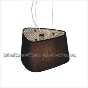 CE Project Black Pendant Lamp Light with Fabric Shade (S-2291-1) pictures & photos