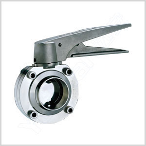 Sanitary Stainless Steel Butt Weld Butterfly Valve pictures & photos