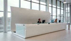 Office Furniture Reception Counter Solid Surface Front Desk pictures & photos