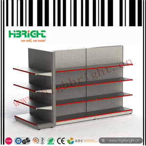 Store Fixture Punched Holes Supermarket Display Rack Shelf pictures & photos