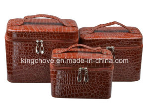 2015 Latest Hot Fashion PU Cosmetic Bag (three PCS per set) (KCC243-1) pictures & photos