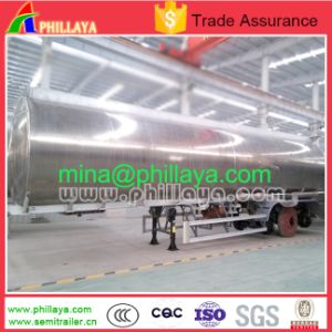3axle Milk Water Liquid Food Transport Aluminum Tanker Semi Trailer pictures & photos