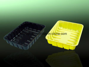 Disposable Plastic Meat Fruit Mushroom Packaging Tray pictures & photos