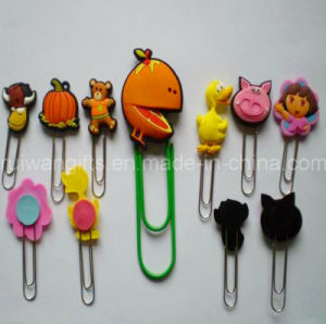 Custom Various Designs 3D PVC Rubber Bookmark pictures & photos