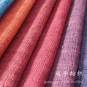 Home Textile Polyester Linen Sofa Fabric with Different Backing pictures & photos