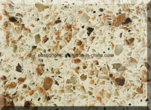 Artificial Man-Made Double Color Quartz Stone pictures & photos