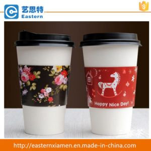 Printed Disposable Paper Cup Sleeve pictures & photos