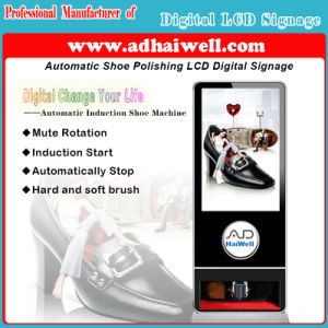 Automatic Induction Shoe Polishing Machine -Digital Signage Electronic Signage for Business pictures & photos