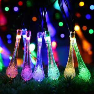 Decoration Yard Star Shaped Rope 1 Inch Christmas Solar Powered LED String Light for Euro Us Market pictures & photos