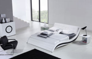 Best-Selling Modern Elegant Design King Size White Adult Leather Bed pictures & photos