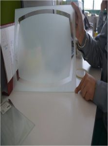 Red Painted Ultra Clear Glass/Lacquered Tempered Glass/Splashback Tempered Glass pictures & photos