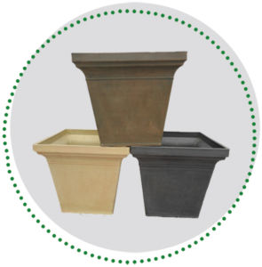 Recycled Plastic Flower Pot -11yd40SA