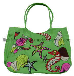 600d Polyester Printing Promotion Beach Bags for Women pictures & photos