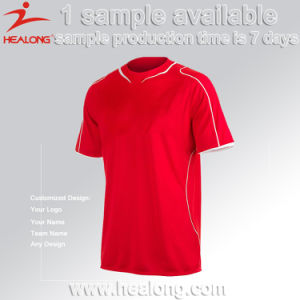 Healong 100% Polyester Customized Any Logo Football Jersey Soccer Shirt pictures & photos