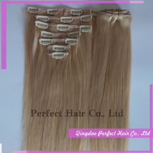 Clip in Remy Brazilian Human Hair Extensions Full Head pictures & photos
