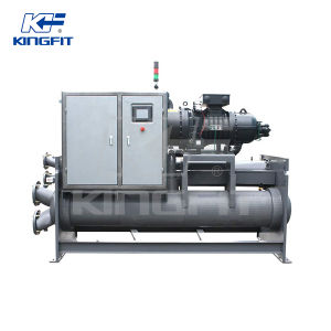 High Efficient Flooded Type Low Temperature Screw Style Brine Chiller pictures & photos