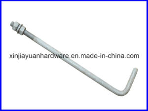 Galvanized L Type /Pigtail Foundation Bolt for Construction pictures & photos