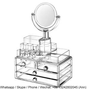 Hot Sale Acrylic Storage Box with Mirror pictures & photos