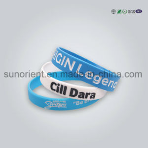 New Design Fashion Debossed Silicone Wristband of Nice Quality pictures & photos