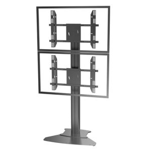 "Public TV Floor Stand Floorbase Dual Screens 30-60"" (AVA 201D) pictures & photos"