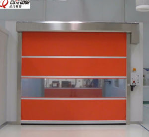 High Speed Fabric Anti-Duty Automatic Clean Roller Shutter Door pictures & photos