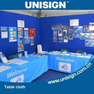 Unisign Cheap and High Quality Polyester Table Cloth pictures & photos