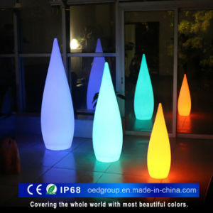 LED Pointed Floor Lamp, Water Droplet Floor LED Light pictures & photos