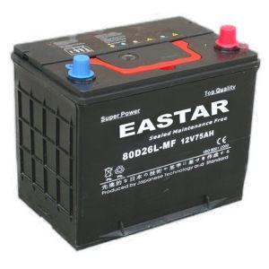 JIS Standard Maintenance Free Battery for Car (80D26L) pictures & photos