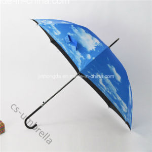 "22""X8k Colored Adhesive Plaster Fabric Straight Sun Umbrella (YSS0146-2) pictures & photos"