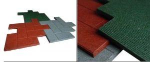 Interlocking Rubber Tiles Rubber Gym Floor Tiles Colorful Rubber Paver Square Rubber Tile pictures & photos