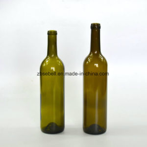 750ml Antique Green Glass Bordeaux Bottle for Wine (NA-001) pictures & photos