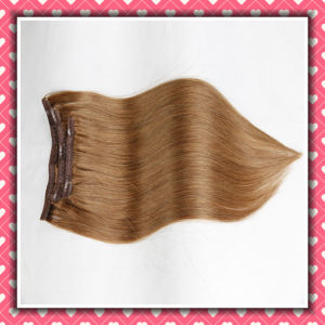Premium Quality Human Hair Clip-in Extensions Silky 20inches pictures & photos
